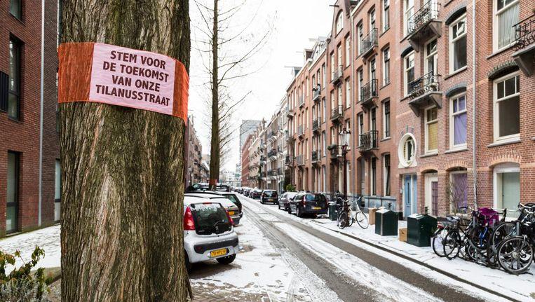 De Tilanusstraat in Amsterdam-Oost moet op de schop Beeld Tammy van Nerum