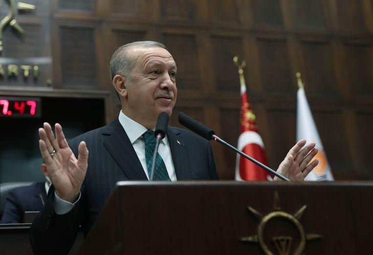 Turks president Erdogan.  Beeld AP