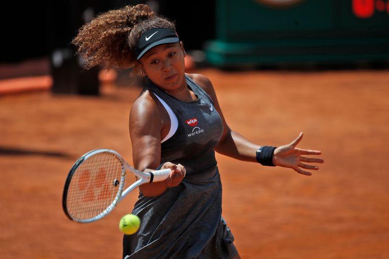 Tennisster Naomi Osaka weigerde vorige zomer aan te treden in de halve finales van het toernooi van Cincinnati,nadat een zwarte man door de politie was neergeschoten.nis  Beeld AP
