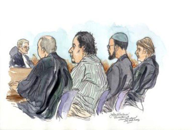 Het Haagse gerechtshof heeft woensdag zeven veronderstelde leden van terreurnetwerk de Hofstadgroep vrijgesproken van het vormen van een terroristische organisatie. (ANP) Beeld