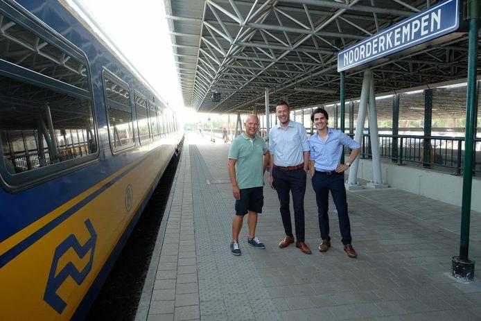 Het actiecomité Station Noorderkempen: Luc Torfs, Arnold Wittenberg en Joris Van der Schoot.