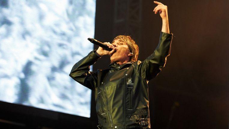 Zanger Ian Brown van The Stone Roses. Beeld getty