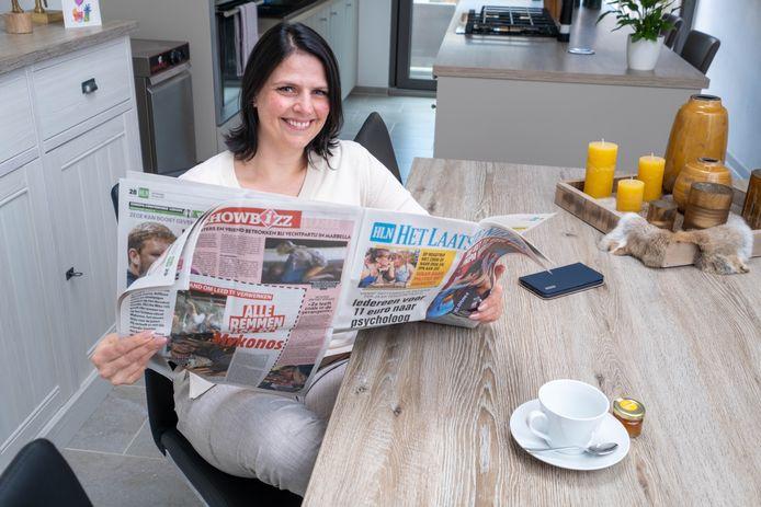 Ilse Lagaisse aan de ontbijttafel