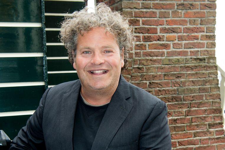 100%NL magazine 10-jarig jubileum met tal van bekende nederlanders in art hotel Spaander te Volendam.   Op de foto:    Dirk Zeelenberg Beeld Brunopress/Patrick van Emst