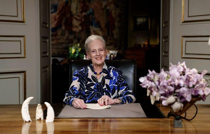 De Deense koningin Margrethe heeft haar regeringsjubileum in alle stilte gevierd.