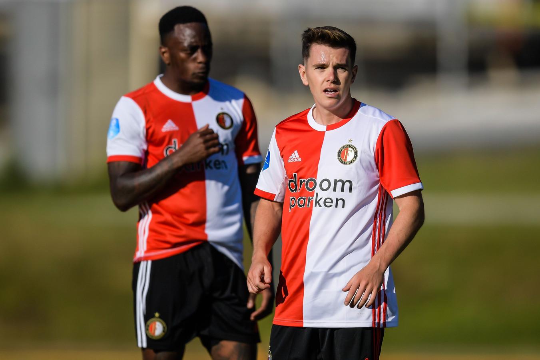 Liam Kelly in het shirt van Feyenoord.