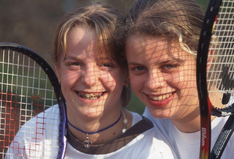 Kim Clijsters Elke Clijsters 2002 Beeld Dia Archief