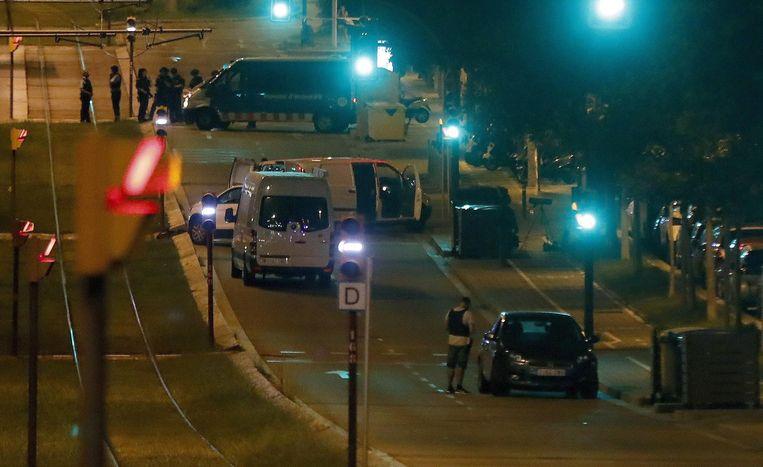 De Ford Focus werd donderdagavond teruggevonden. In de wagen lag het levenloze lichaam van een man die was neergestoken. Beeld afp