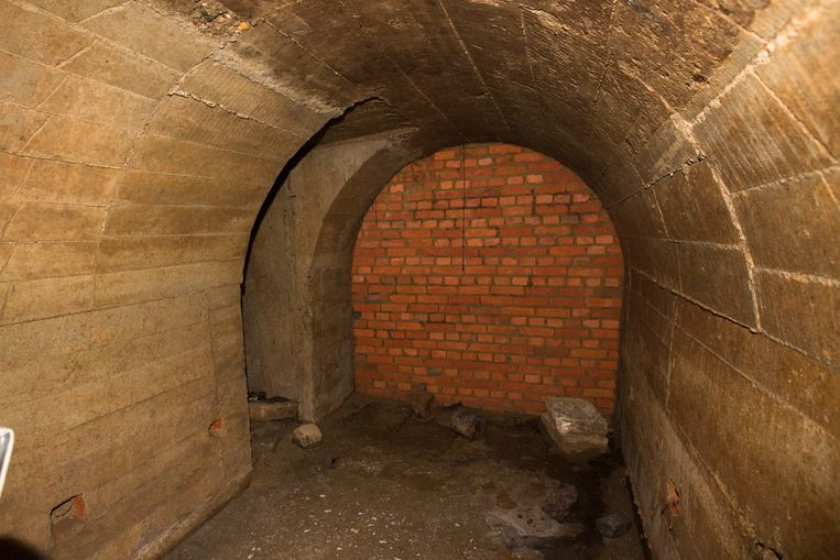Een schuilkelder die gevonden werd in Sint-Truiden.