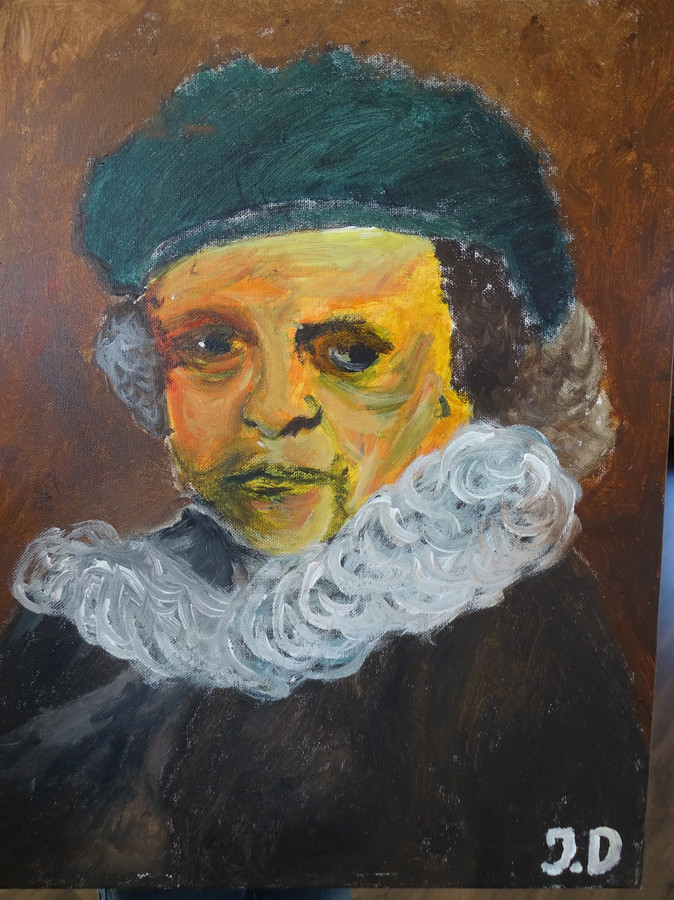 Jurre Dhont: Zelfportret Rembrandt