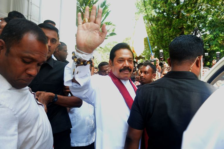 Mahinda Rajapaksa, de nieuwe premier van Sri Lanka. Beeld AFP