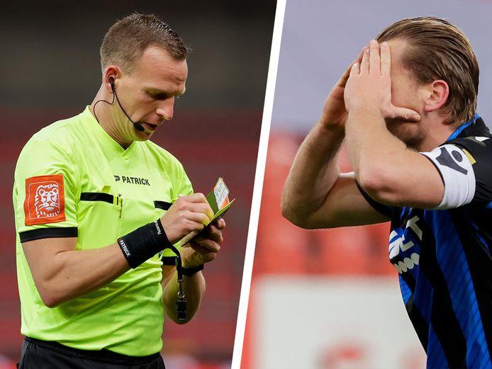 Ref Nathan Verboomen kende gisteren bij afwezigheid van de VAR een moeilijk moment in de slotfase van het bekerduel tussen Standard en Club Brugge.