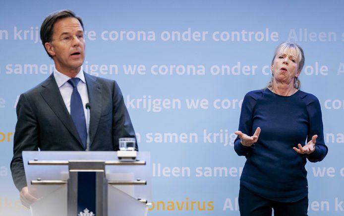 Mark Rutte en Corline Koolhof.