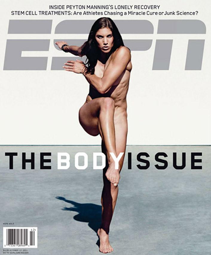"""Hope Solo, en une de 'ESPN"""" magazine."""