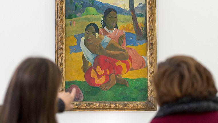 'Wanneer zal je trouwen?' is het duurste schilderij ooit. Een onbekende koper telde 268 miljoen euro voor het schilderij van Paul Gauguin. Beeld AP