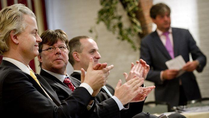 Geert Wilders bij de Provinciale Staten in Friesland in 2011.