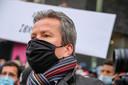 Ook advocaat Alexis Deswaef kwam naar de betoging.