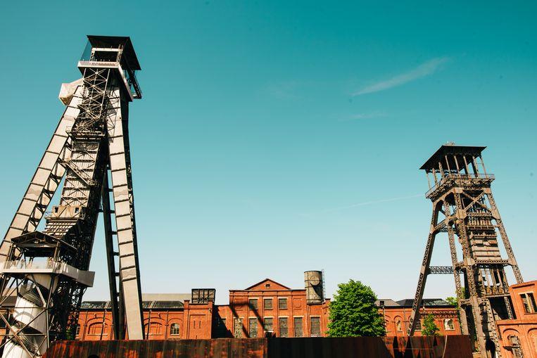 Het gigantische binnenplein van C-Mine in Genk. Beeld Thomas Pollaris