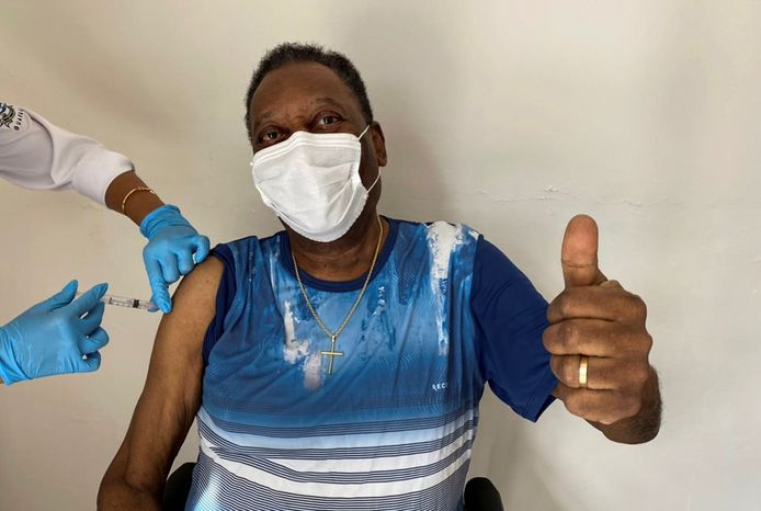 Pelé is gevaccineerd.