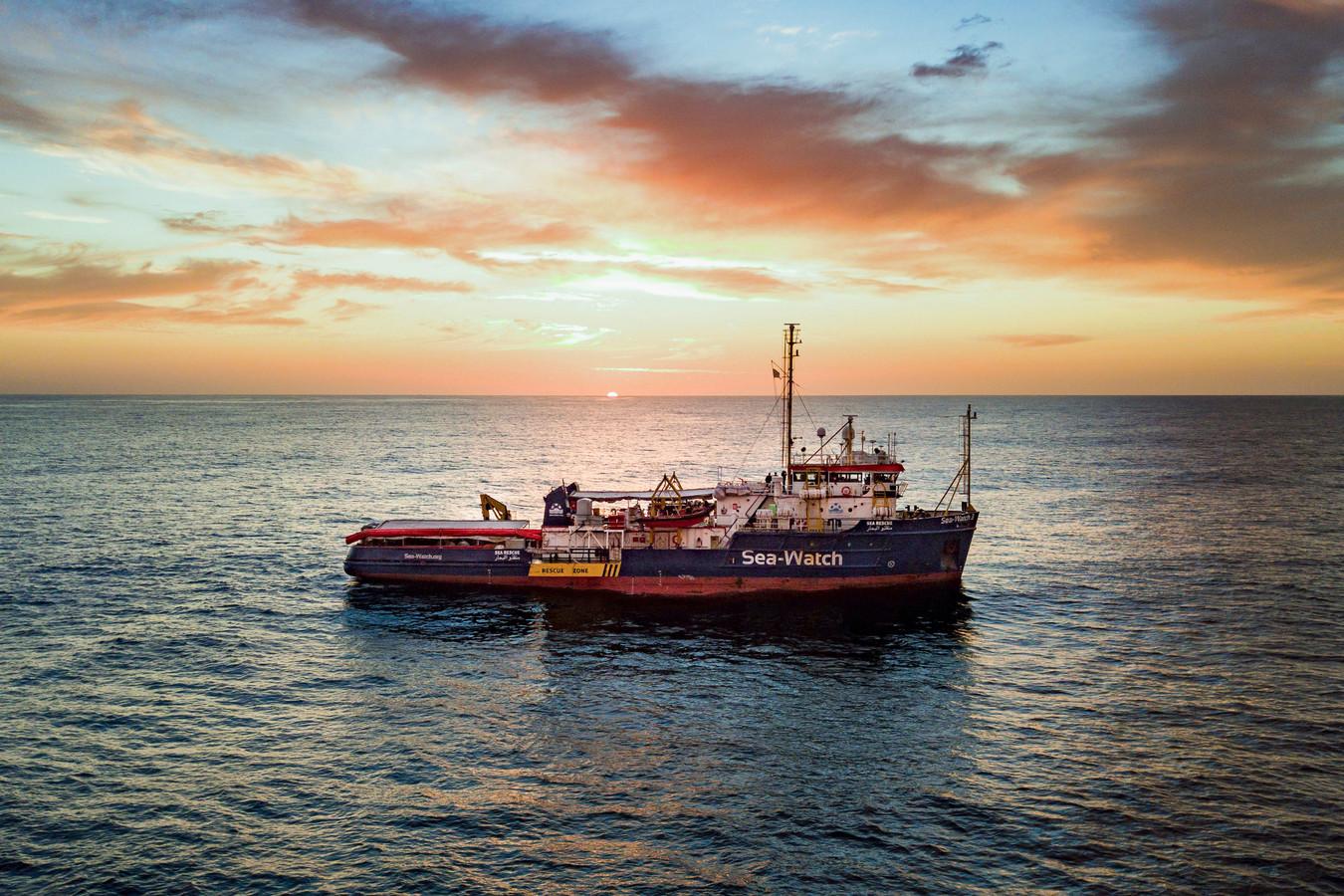 De Sea Watch op de Middellandse Zee.
