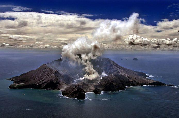 De vulkaan op White Island.