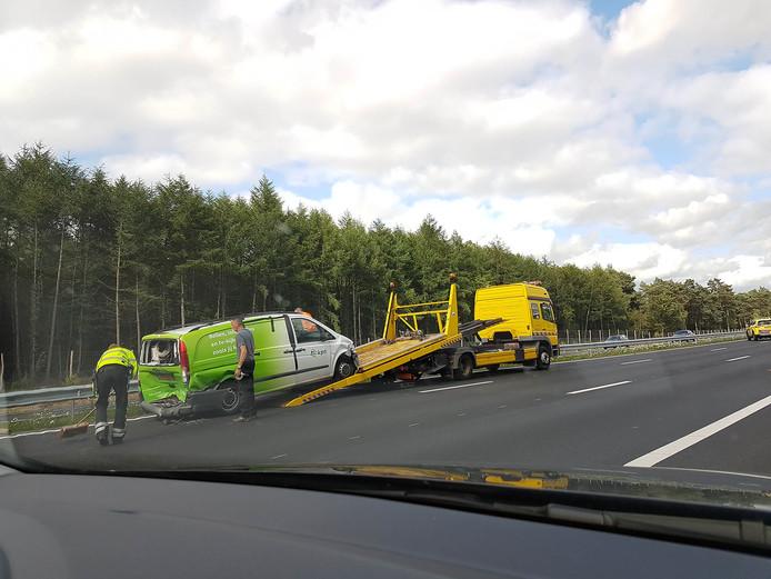 Schade aan een van de betrokken voertuigen.