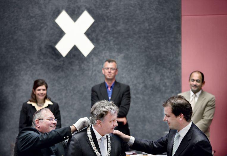 2010: bij de beëdiging van Eberhard van der Laan als burgemeester van Amsterdam. Beeld Jean-Pierre Jans
