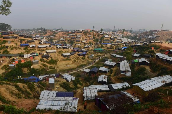 Een Rohingya-vluchtelingenkamp in Bangladesh.