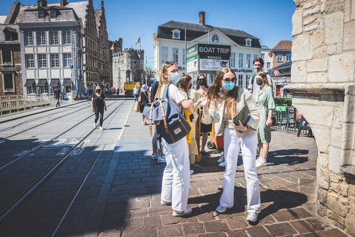 In het grootste deel van Gent-centrum mogen de mondmaskers vanaf woensdag af