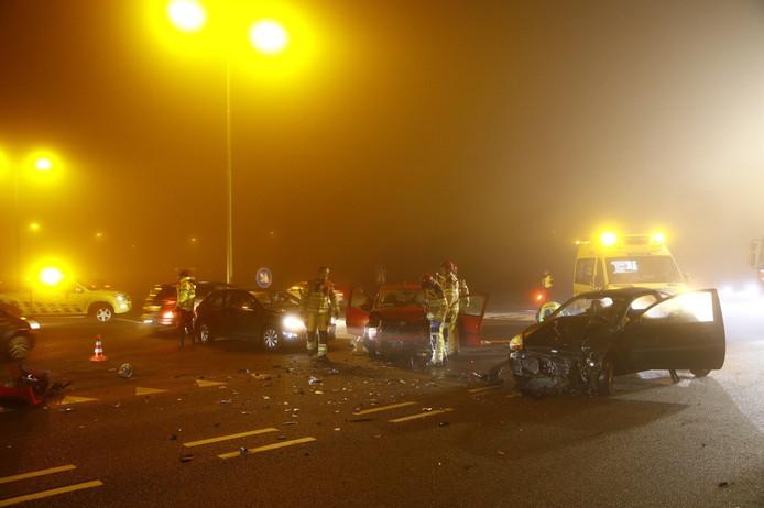 Meerdere auto's waren betrokken bij een ongeluk op de Ordelseweg in Zwolle.