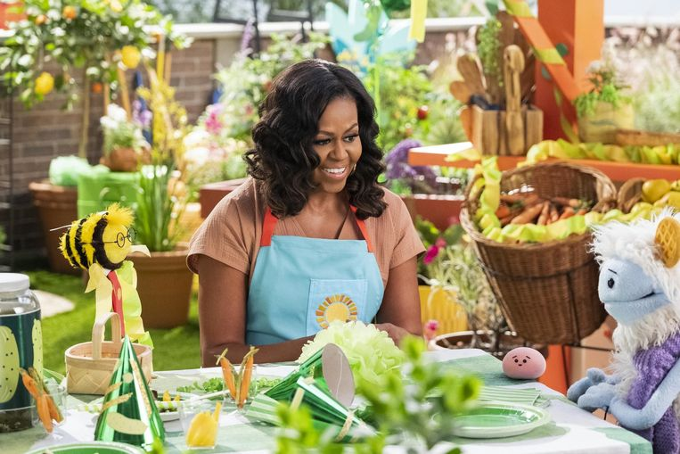 Waffles en Mochi met Michelle Obama. Beeld Netflix