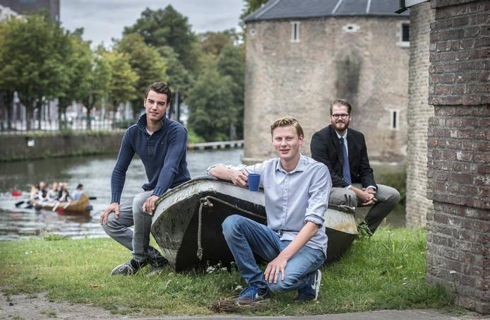 Aram van Bergen-Henegouwen, Stefan Koop en Boris de Korver (van links naar rechts) . foto ron magielse/pix4profs