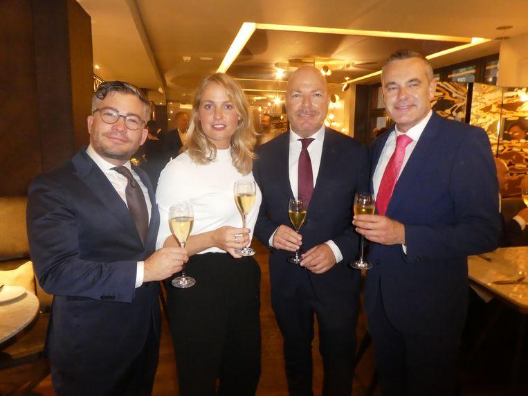De Masters of Fine Gastronomy: François-Léon Van der Velden, Roxanne Pinckers, Sander Allegro en Dick de Graaff. Van der Velden: