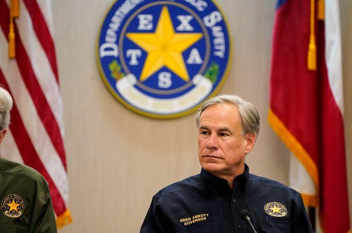 De Texaanse gouverneur Greg Abbott.