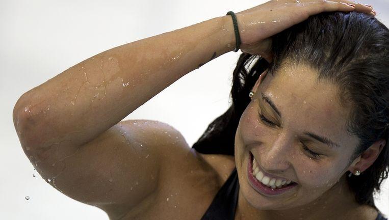 Ranomi Kromowidjojo heeft op de slotdag van de WK kortebaan haar derde gouden medaille veroverd. Beeld anp