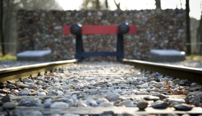 Het nationaal monument op het voormalige terrein van Kamp Westerbork .