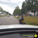 De motorrijder moest zijn rijbewijs meteen inleveren