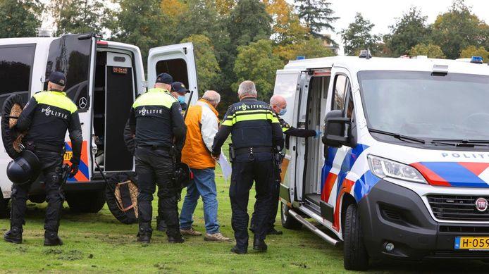 In Den Bosch is zaterdag geprotesteerd tegen de coronaspoedwet.