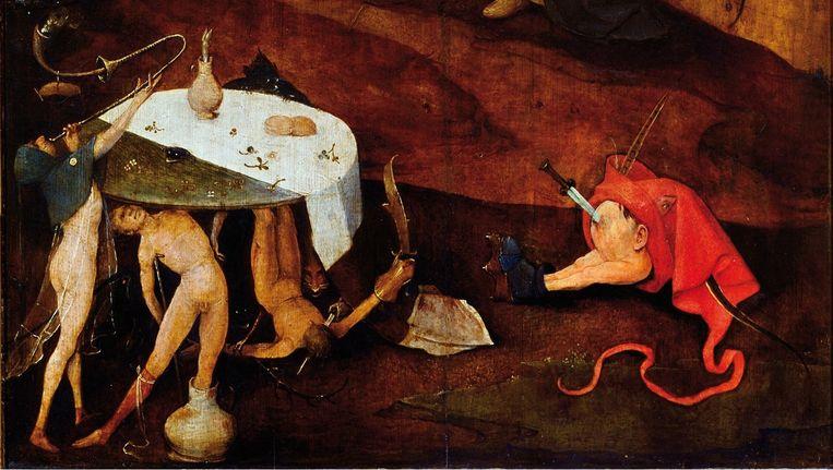 Jeroen Bosch, De verzoeking van de heilige Antonius, rechterpaneel. Beeld