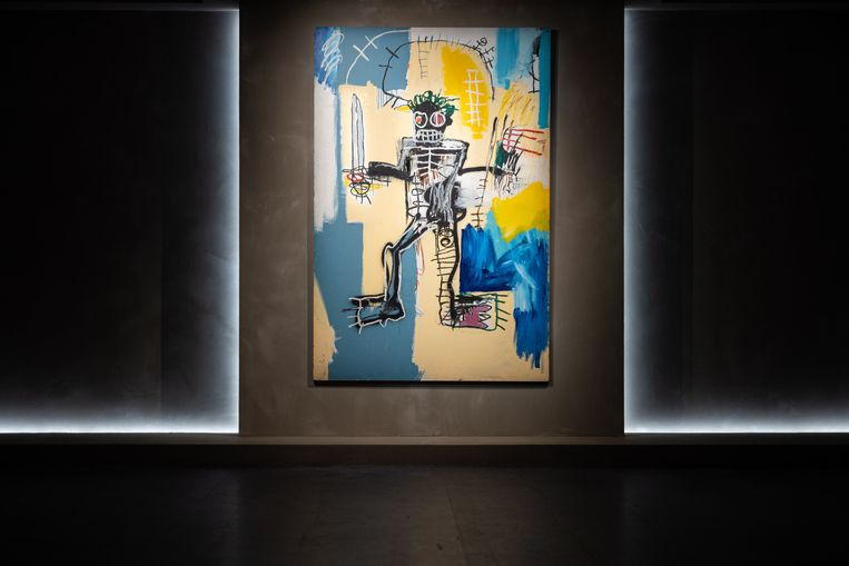 Basquiat:'Warrior'. Geschat op 26-28 miljoen. foto epa Beeld EPA