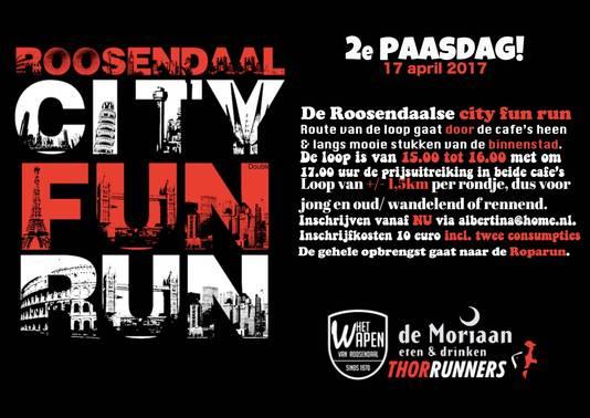 Poster City Fun RUn Roosendaal