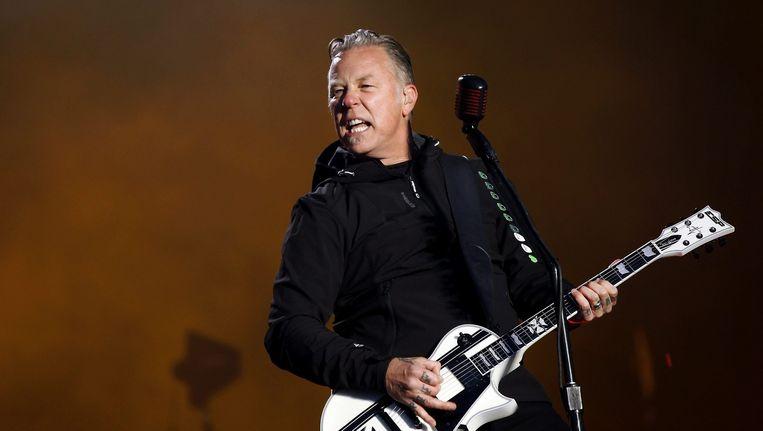 Iets te nadrukkelijk zijn beste beertje voorgezet: Metallica-zanger/gitarist James Hetfield. Beeld AFP