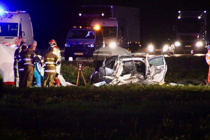 Dodelijk ongeval A6 bij Rutten.