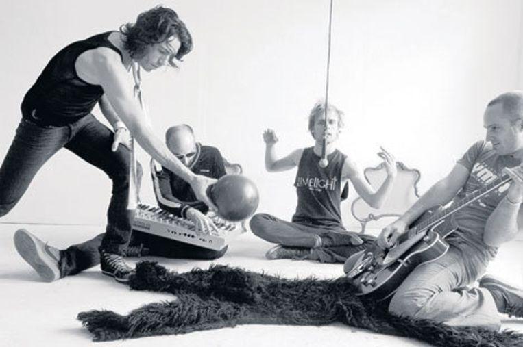 De Amsterdamse band Matik: Sajosc ha Talirz, Niels Geurs, Peter van Drie, Maarten Willemsen (vlnr). Foto Dennis van Doorn Beeld