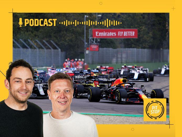 Formule 1-podcast Pitstop, met Rik Spekenbrink (l) en Etienne Verhoeff.