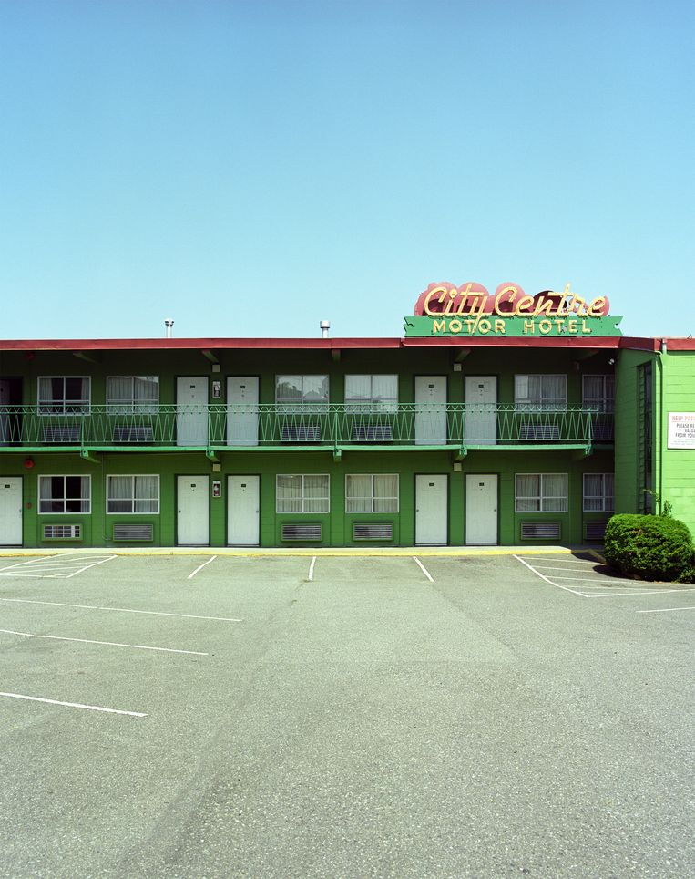 Het City Centre Motel in Vancouver. Beeld null