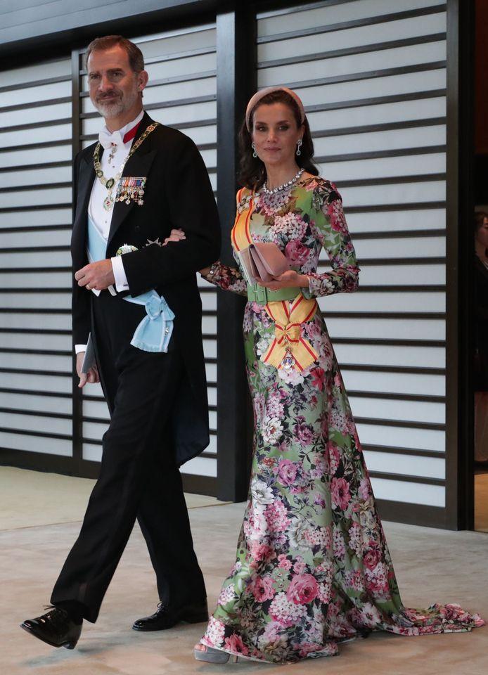 Koning Felipe VI en koningin Letizia.