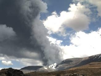 Vulkaan Nieuw-Zeeland barst uit