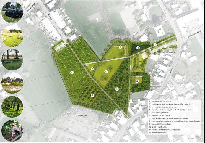 Het definitief ontwerp voor het toekomstig Spoelepark.