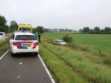 Wie reed gewoon door nadat hij een andere wagen de greppel in reed in Dieren?